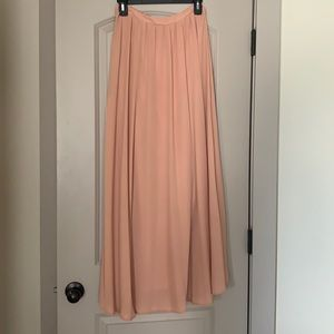 S Bohme pink flowy maxi skirt. Lined. Like new.